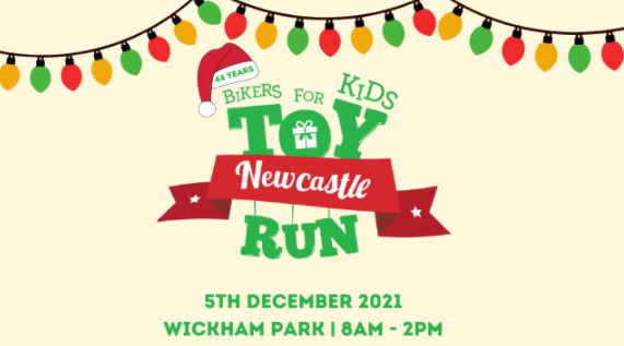 Bikers for Kids Newcastle Toy Run – Sunday 05 December 2021